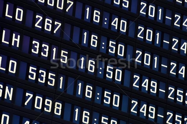 Airport information board. Stock photo © FER737NG