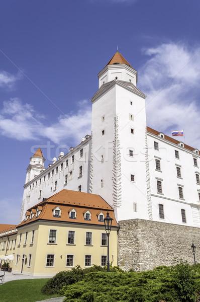 Pozsony kastély kilátás építészet Európa torony Stock fotó © FER737NG