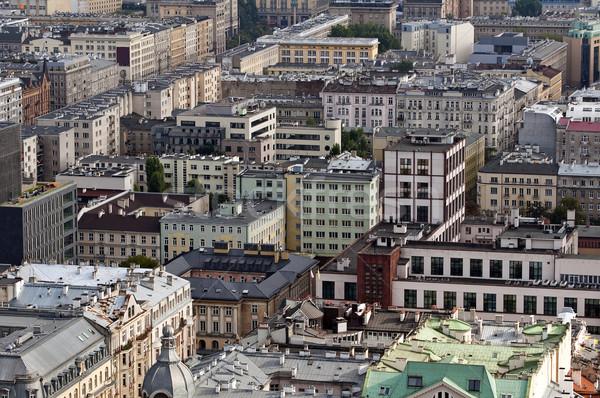 Varşova Polonya ufuk çizgisi şehir merkezinde Stok fotoğraf © FER737NG