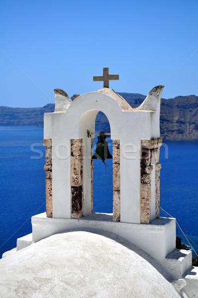 Küçük kilise santorini adası ada seyahat Avrupa güzel Stok fotoğraf © FER737NG