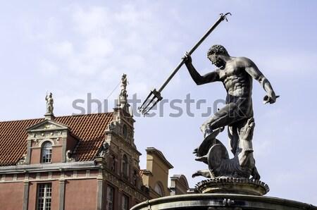 God zee standbeeld fontein oude binnenstad gdansk Stockfoto © FER737NG