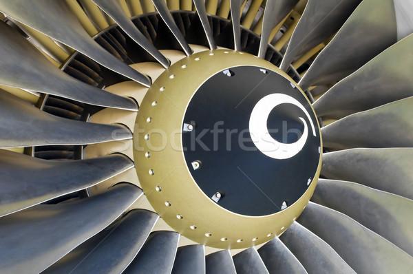 Jet motor detalle primer plano moderna avión Foto stock © FER737NG