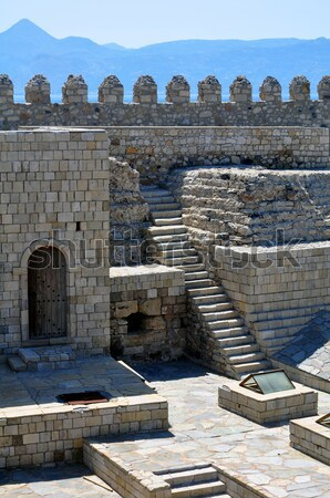 Takviye venedik kale Yunanistan seyahat Avrupa Stok fotoğraf © FER737NG
