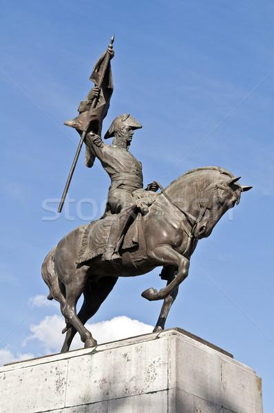általános Buenos Aires Argentína ló zászló katona Stock fotó © FER737NG