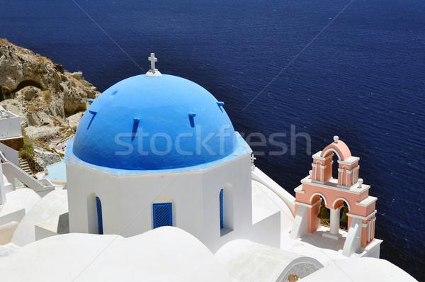 Santorini adası ada seyahat fotoğrafçılık güzel Yunanistan Stok fotoğraf © FER737NG