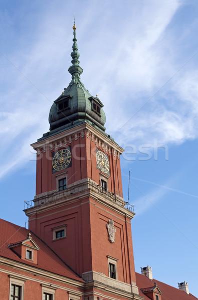 Warschau koninklijk kasteel toren oude binnenstad Polen Stockfoto © FER737NG