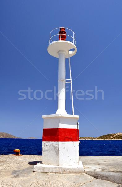 Navigatie baken Oost Rood mariene kust Stockfoto © FER737NG