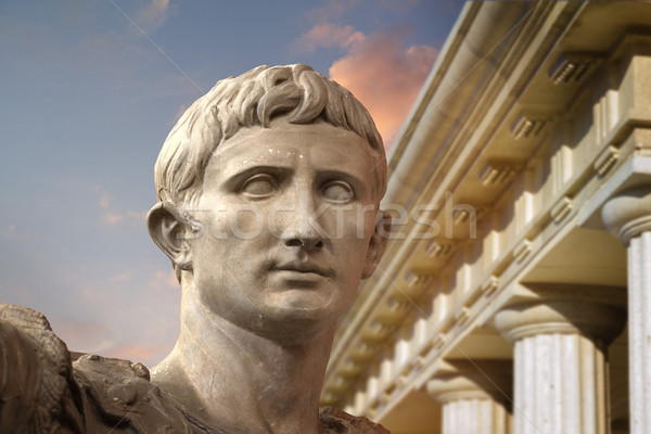 Statue of Julius Caesar Augustus in Rome Stock photo © Fernando_Cortes