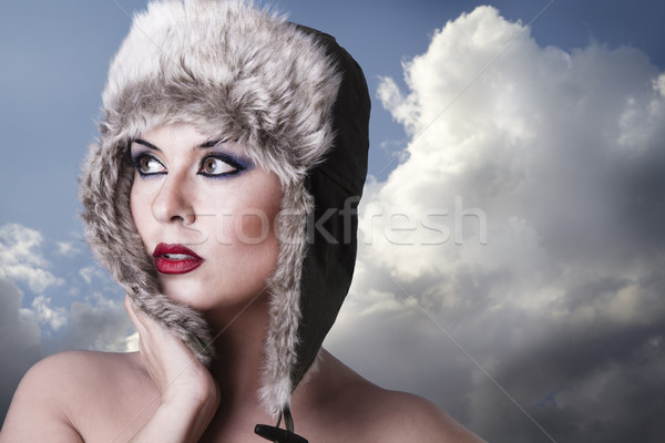 cold winter queen Stock photo © Fernando_Cortes