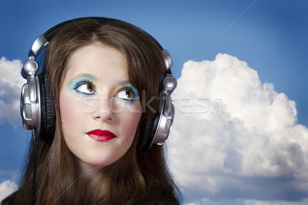 Jouer professionnels deejay belle fille écouter musique Photo stock © Fernando_Cortes