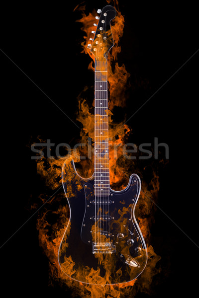 Burning Electric Guitar Stock photo © Fernando_Cortes