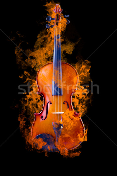 Burning violin Stock photo © Fernando_Cortes