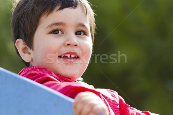 Cute peu européenne bébé garçon jouer Photo stock © Fernando_Cortes