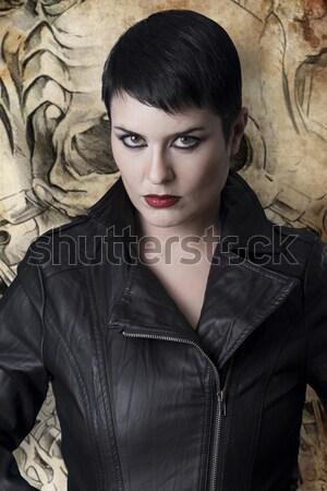 Rocha beleza escuro bela mulher mulher música Foto stock © Fernando_Cortes
