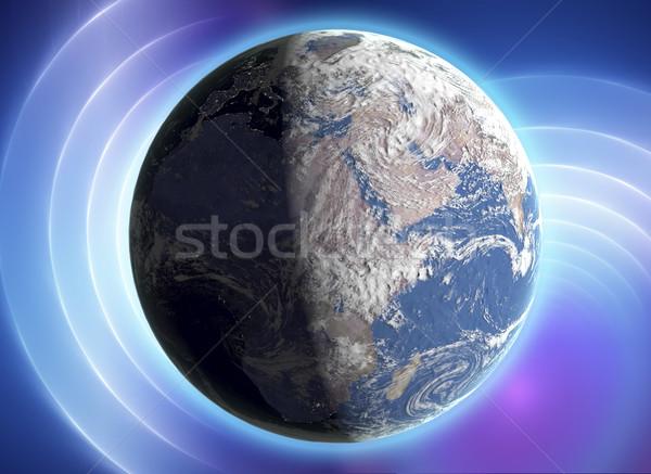 Toprak gezegen uzay renkli etkileri gerçek Stok fotoğraf © Fernando_Cortes