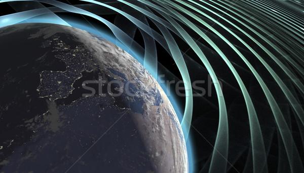 Foto stock: Real · tierra · planeta · espacio · colorido · efectos