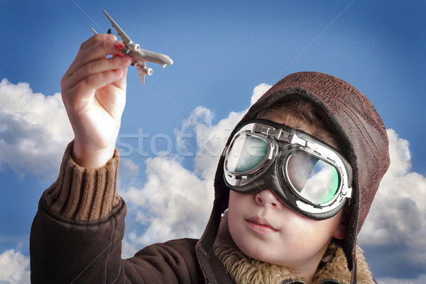 Stock photo: Playing to be a professional pilot