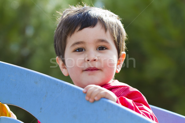 Cute peu bébé garçon jouer parc Photo stock © Fernando_Cortes
