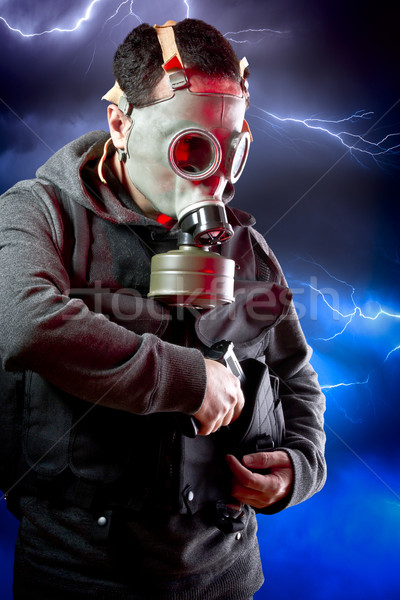 человека долго нападение винтовка Storm Сток-фото © Fernando_Cortes