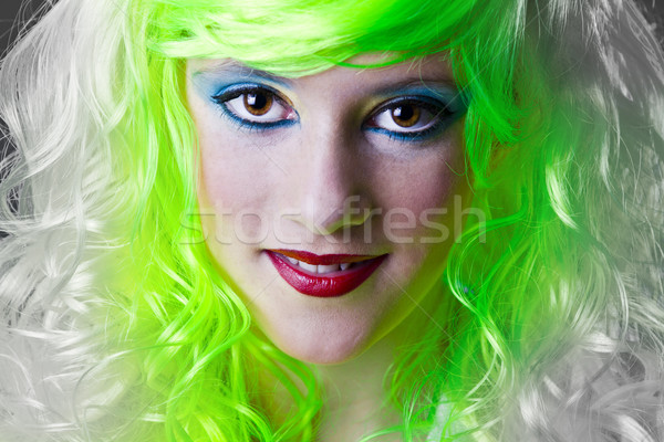green fairy girl Stock photo © Fernando_Cortes