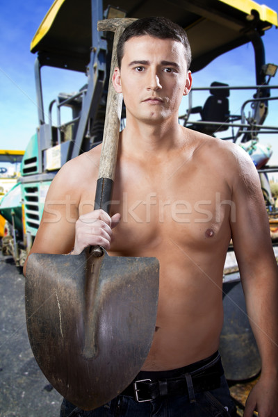 Worker on road street repairing works  Stock photo © Fernando_Cortes
