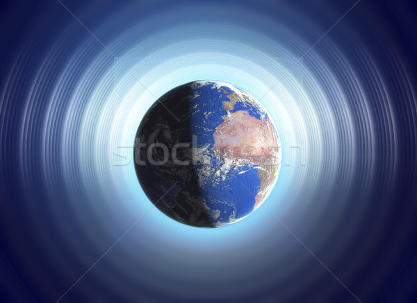 Real Earth Planet in space  with colorful effects Stock photo © Fernando_Cortes