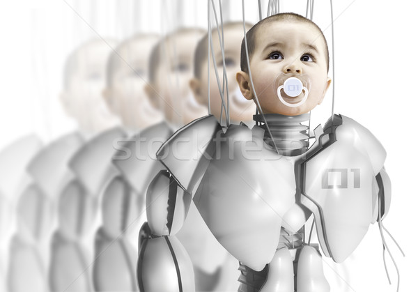 Child robot, creating clones, genetic engineering Stock photo © Fernando_Cortes