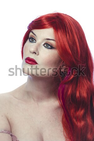 Retrato mulher sexy laranja menina festa Foto stock © Fernando_Cortes