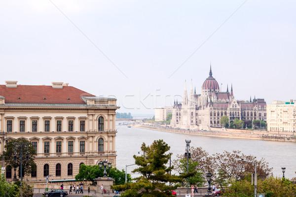 здании парламент Будапешт Венгрия воды облака Сток-фото © Fesus