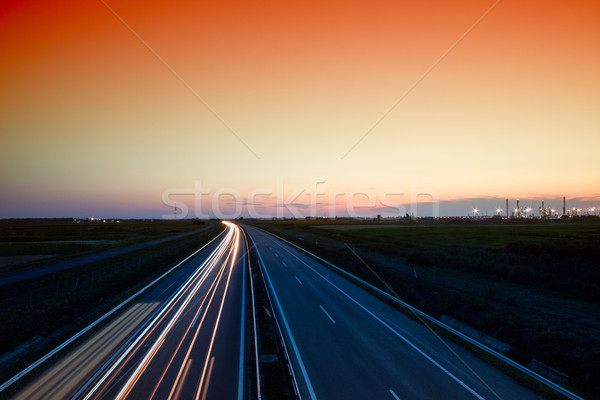 Autók száguld autópálya város autó út Stock fotó © Fesus