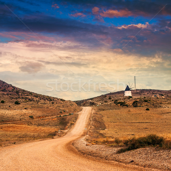 Spanish landscape. Desolate rural area in mountains of Andalusia Stock photo © Fesus