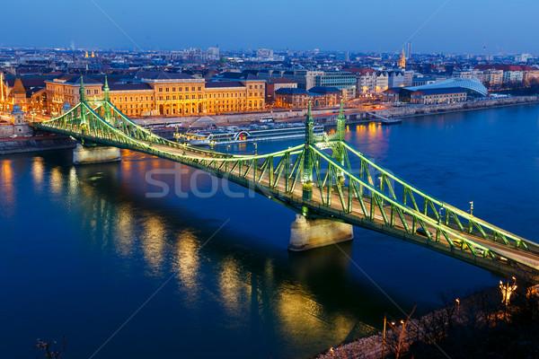 Liberty bridge in Budapest Stock photo © Fesus