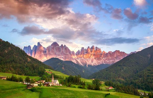 Santa Maddalena, Dolomites, Italy Stock photo © Fesus