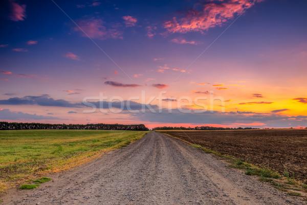 Strada bella tramonto sole natura Foto d'archivio © Fesus