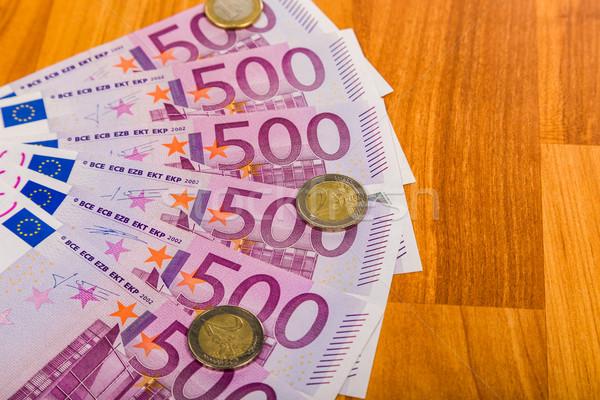 Euro geld bank business papier Stockfoto © Fesus