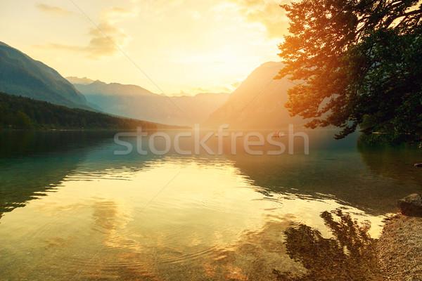 Foto d'archivio: Tramonto · lago · parco · valle · cielo · acqua