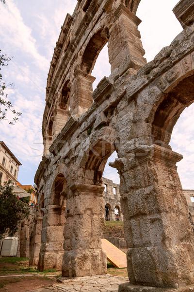 Famous amphitheater in Pula, Croatia Stock photo © Fesus