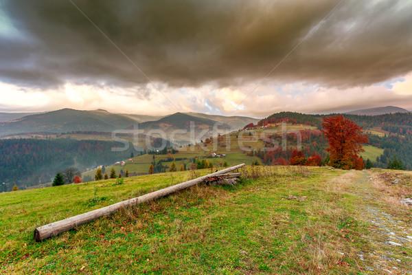Csodálatos ősz domboldal természet nyár felhő Stock fotó © Fesus