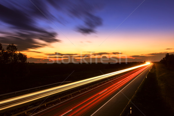 Auto snelweg Hongarije business hemel Stockfoto © Fesus