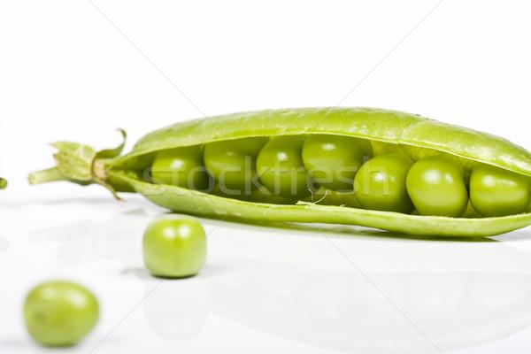 Zöldborsó étel zöld piac eszik fehér Stock fotó © Fesus