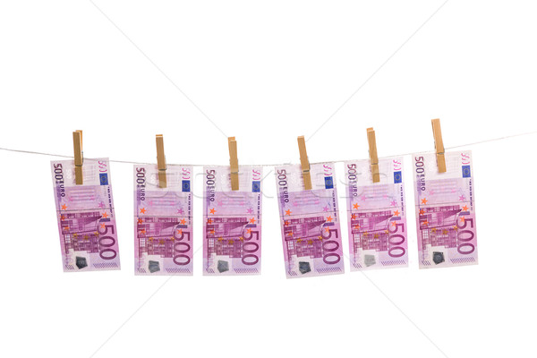 Euro money laundering Stock photo © Fesus