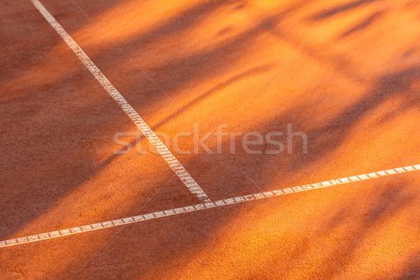 Clay tennis court Stock photo © Fesus