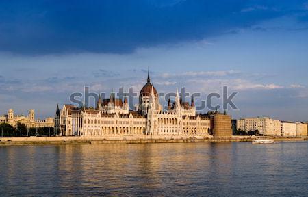 Parlament domu budynku miejskich czerwony rzeki Zdjęcia stock © Fesus