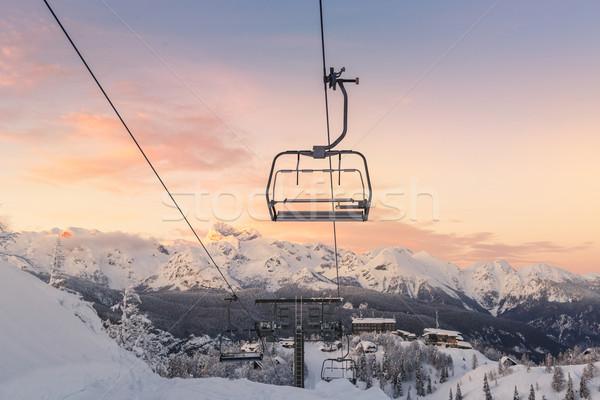 Ski center of Vogel-Slovenia Stock photo © Fesus