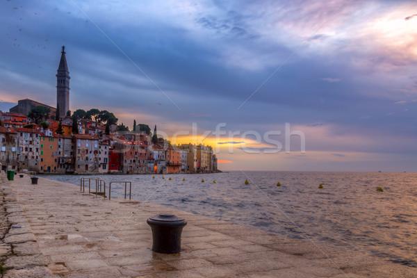 Vieille ville mer côte Croatie nuit Europe Photo stock © Fesus