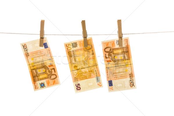 евро деньги изолированный белый бизнеса Сток-фото © Fesus