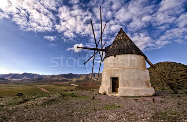 Old Windmill in Las Negras Cabo de Gata natural Park Almeria And Stock photo © Fesus