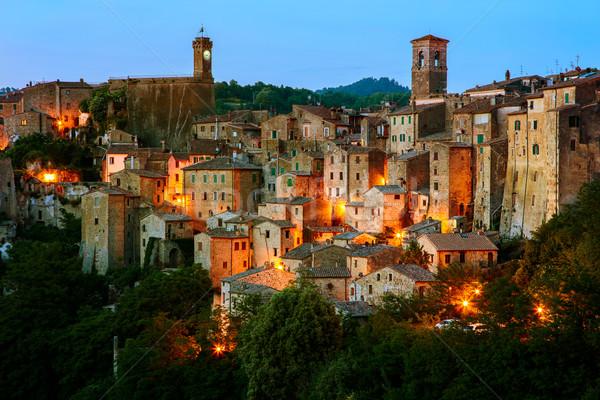 Miasta Toskania Włochy piękna średniowiecznej miasta Zdjęcia stock © Fesus