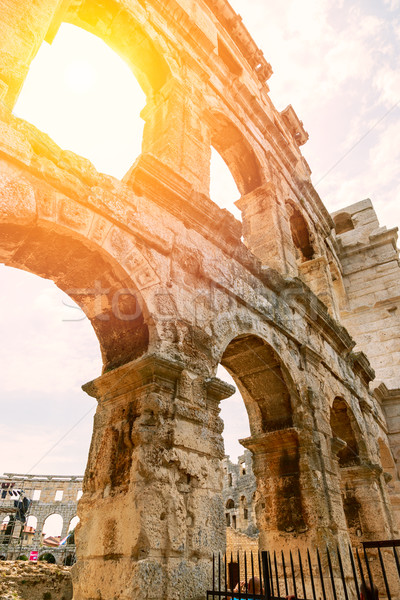 Famous ancient Roman Amphitheater - Pula Stock photo © Fesus