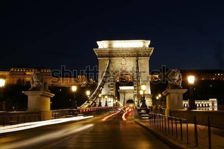 Chainbridge in Budapest Stock photo © Fesus